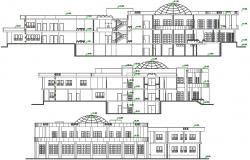 Library Elevation View Drawing CAD file