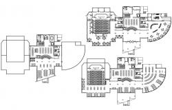 Library Plan DWG File