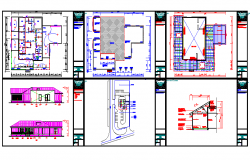 Library architectural autocad drawings