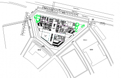 Library layout plan detail dwg file