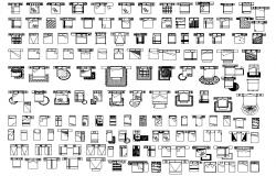 Library of bedroom furniture dwg file