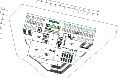 Library plan detail dwg file