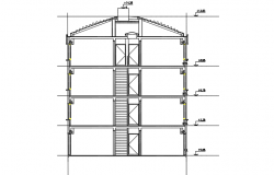 Lift elevation elevation detail dwg file