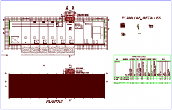 Lift station project with architectural view dwg file
