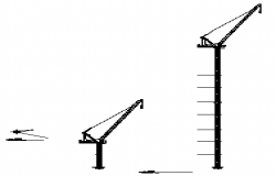 Lifting tower crane design drawing