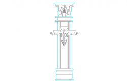 Light column pole cad blocks design dwg file