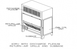 Light details with discharge plenum return air grill and sub base dwg file