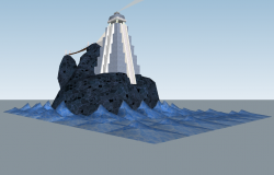 Light-house structure 3d model sketch-up file