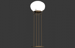 Light lamp detail elevation 3d model 3d max file