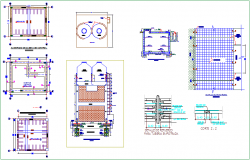 Light weight structure view of tank with structural detail view dwg file