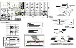 Lighting plan detail dwg file