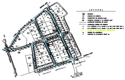 Lighting plan for industrial park design drawing