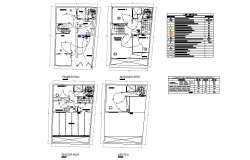 Lighting point plan AutoCAD file