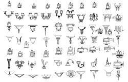Lighting symbols CAD blocks Download