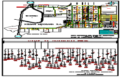 Line diagram public lighting and industrial zone  design drawing