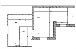 Line house plan detail layout file