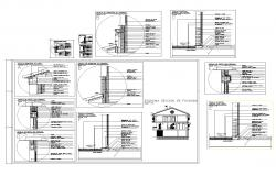 Lintel details windows and eaves formation autocad file