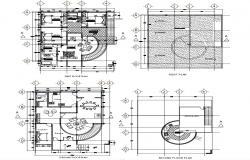 Living Apartment CAD Plan Download
