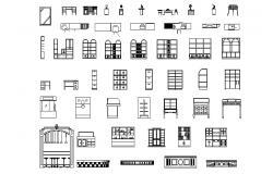 Living Room Furniture AutoCAD Blocks