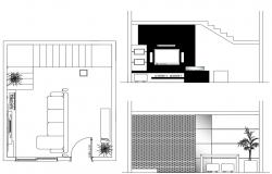 Living Room Layout CAD Plan Download