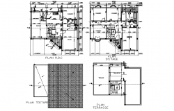 Living place planning detail dwg file