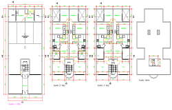 Living place planning dwg file