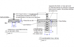 Load bearing wall detail autocad file