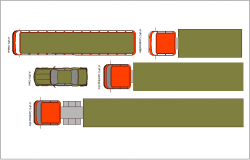Loading truck plan view block dwg file