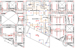 Local Education Institution Structure details dwg file