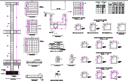 Local family housing column and beam construction dwg file
