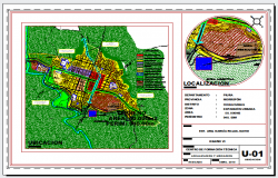 Location layout key plan of Technical school and vocational training center.