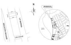 Location plan of the residential house in dwg file