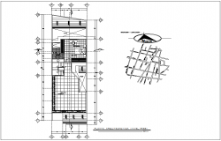 Location plan with third floor plan of residence area with architecture view dwg file