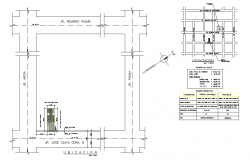 Location site plan autocad file