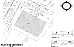 Location site plan detail dwg file