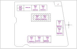 Location view of classroom with simple plan dwg file