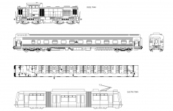 Locomotives plan detail dwg.
