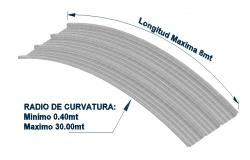 Longitudinal metal curve 3d drawing details dwg file
