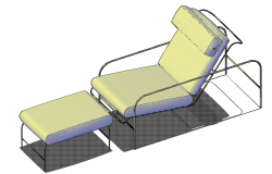 Lounge chair top view elevation dwg file