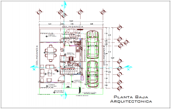 Low floor plan with view of architectural view dwg file