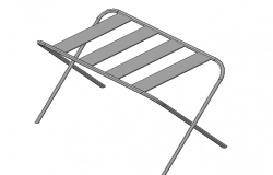 Luggage rack furniture 3d