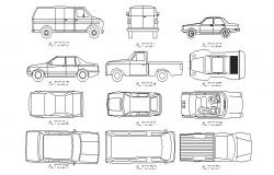 Luxuries auto cars elevation blocks details dwg file