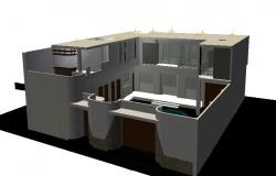 Luxuries beach house 3d model cad drawing details dwg file