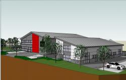 Luxuries bungalow building 3d model cad drawing details skp file