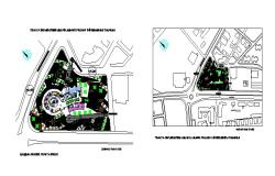 Luxuries hotel distribution plan and landscaping structure details dwg file
