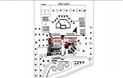 Luxuries hotel distribution plan details dwg file