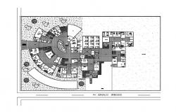 Luxuries hotel ground floor plan cad drawing details dwg file