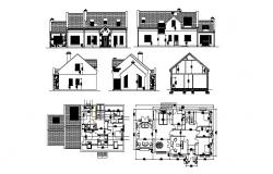 Luxuries one family house detailed architecture project dwg file