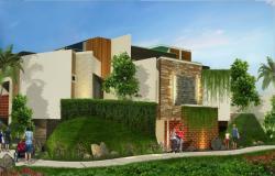 Luxuries resort hotel building 3d exterior model skp file