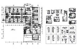 Luxuries star hotel distribution plan cad drawing details dwg file